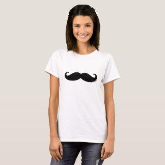 Camiseta Moustache viril do homem