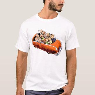 Camiseta Movimentação feliz retro da família do kitsch 60s