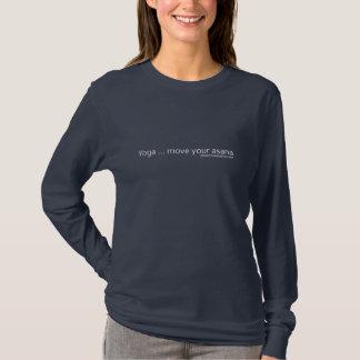 Camiseta Movimento da ioga seu Asana - subtítulo branco