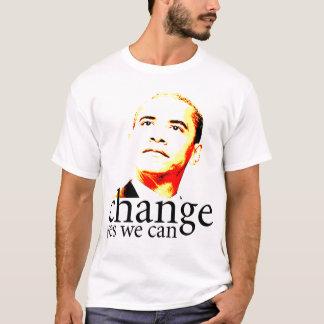 Camiseta Mudança de Barack Obama sim nós podemos