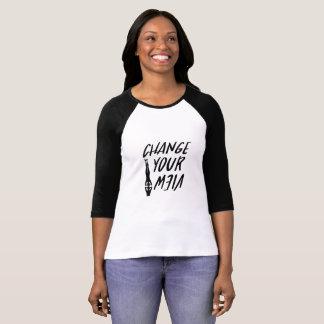 Camiseta Mudança do amante da ioga suas mulheres engraçadas