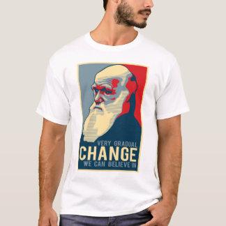 Camiseta Mudança que muito gradual nós podemos acreditar