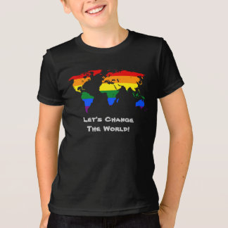 Camiseta Mude o t-shirt do orgulho gay do mundo