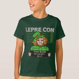 Camiseta Mugshot engraçado de Leprecon do Leprechaun