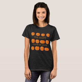 Camiseta Muitas caras de uma Jack-O-Lanterna