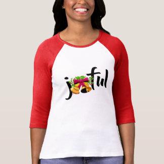 Camiseta mulher alegre do design do t-shirt do Feliz Natal