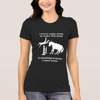 Camiseta Mulher de conluio de salto do cavalo engraçado no