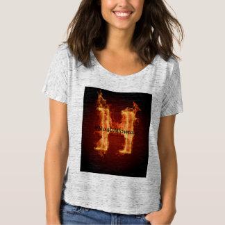 Camiseta Mulher desagradável no fogo