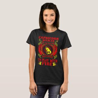 Camiseta Mulher do Capricórnio para o jogo bravo com
