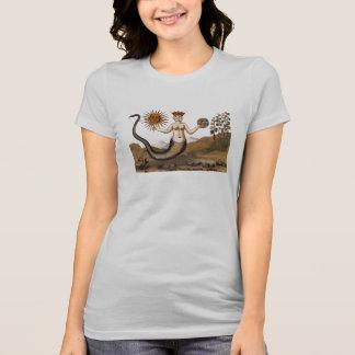 Camiseta Mulher do cobra da alquimia com três caras