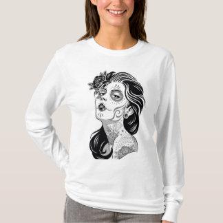 Camiseta Mulher do crânio do açúcar