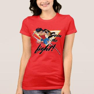 Camiseta Mulher maravilha com espada - junte-se à luta