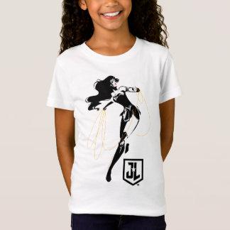 Camiseta Mulher maravilha da liga de justiça | com pop art