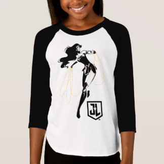 Camiseta Mulher maravilha da liga de justiça   com pop art