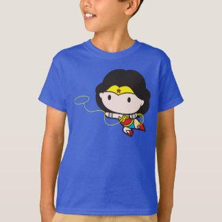 Camiseta Mulher maravilha frente e verso de Chibi
