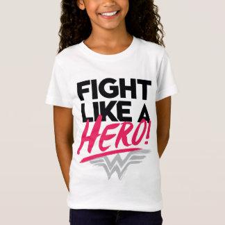 Camiseta Mulher maravilha - luta como um herói