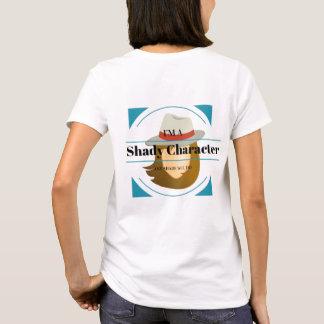 Camiseta Mulher obscuro do mistério do caráter