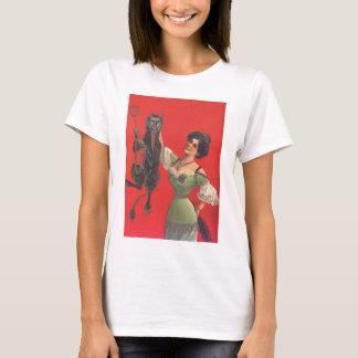 Camiseta Mulher que trava Krampus