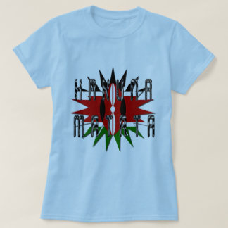 Camiseta Mulheres à moda Jambo azul básico Kenya Hakuna