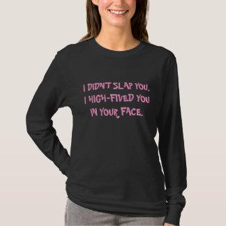 Camiseta Mulheres Altas-Cinco faciais da recusa