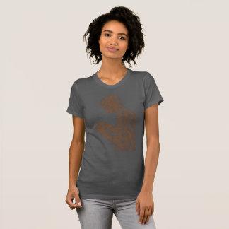 Camiseta Mulheres americanas da oração (asfalto com