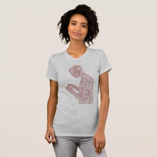 Camiseta Mulheres americanas da oração (prata com marrom)
