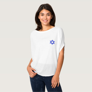 Camiseta Mulheres azuis da estrela de David