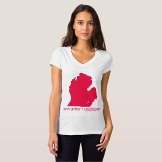 Camiseta Mulheres brancas de marcagem com ferro quente do