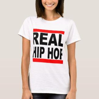 Camiseta Mulheres brancas do fundo do T branco real de Hip