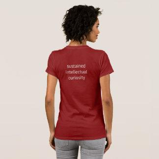 "Camiseta Mulheres - ""curiosidade intelectual sustentada """