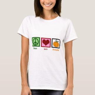Camiseta Mulheres da abóbora do amor da paz