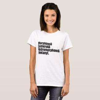 Camiseta Mulheres da progressão da dor