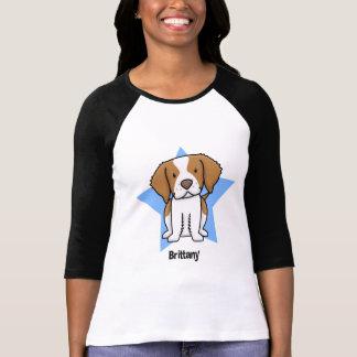 Camiseta Mulheres de Brittany da estrela de Kawaii