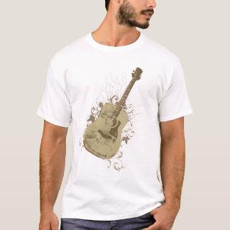 Camiseta Mulheres de Brown Vtg da árvore da guitarra de