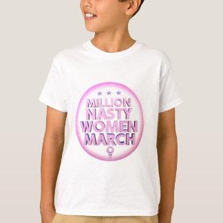 Camiseta Mulheres desagradáveis março para a camisola de