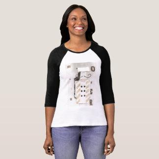 Camiseta Mulheres do comprimento dos três quartos do