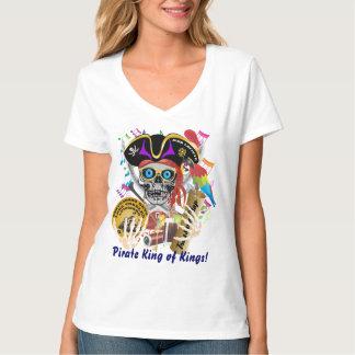 Camiseta Mulheres do contrabando do pirata toda a luz dos