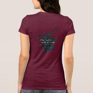 Camiseta Mulheres do crachá e do Tartan do clã de Boyle