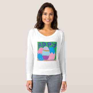 Camiseta Mulheres do felz pascoa superiores