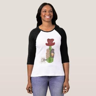 Camiseta Mulheres do fundo da garrafa vaqueiro parte