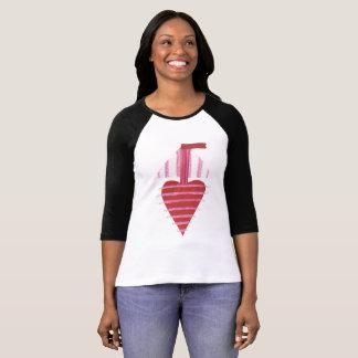 Camiseta Mulheres do fundo de Loveheart barco parte
