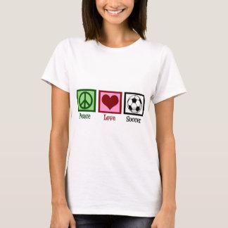 Camiseta Mulheres do futebol do amor da paz