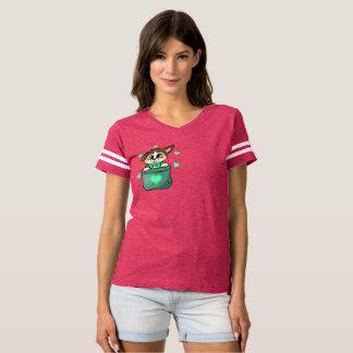 Camiseta Mulheres do T de futebol do palhaço de Pupper do