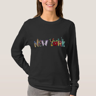 Camiseta Mulheres do t-shirt de New York