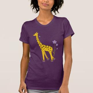 Camiseta Mulheres escuras engraçadas da patinagem de rolo