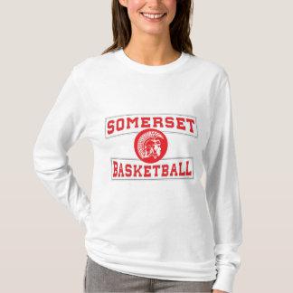 Camiseta Mulheres espartanos da Longo-luva do basquetebol