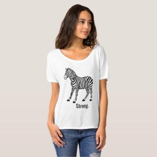 Camiseta Mulheres fracas fortes da zebra superiores