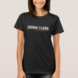 Camiseta Mulheres horizontais crescidas e voadas escuras
