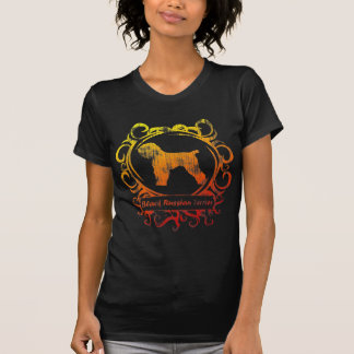 Camiseta Mulheres pretas resistidas elegantes de Terrier do