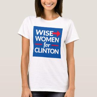 Camiseta MULHERES SÁBIAS PARA o T quadrado do logotipo de
